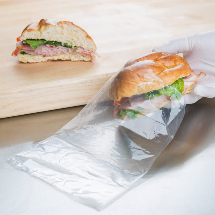 Food Grade Non Toxic Pe Plastic Sandwich Bag Flat Poly Packaging Bags