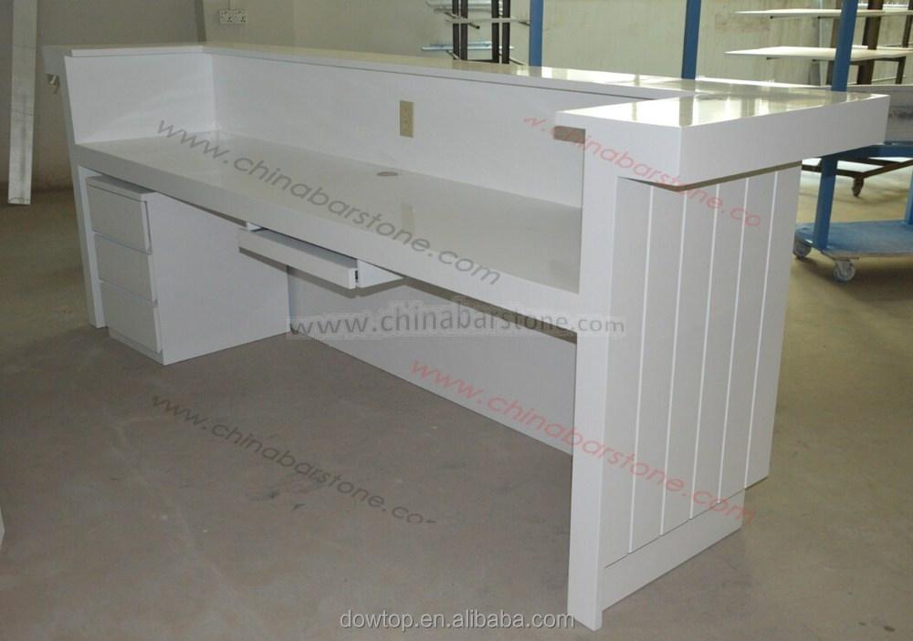 Moderne bureau poste de travail blanc laque réception bureau design