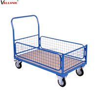 Warehouse 500kg Steel Wire Mesh Foldable Platform Hand Truck