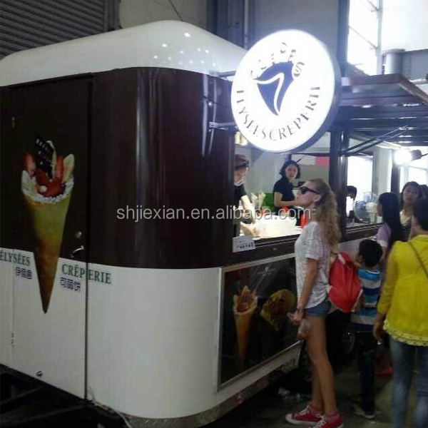 JX-FS400R Cheap price promotion Customized Design Outdoor mobile food truck trailer