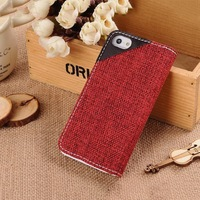 Good quality best sell book style leather case for iphone5
