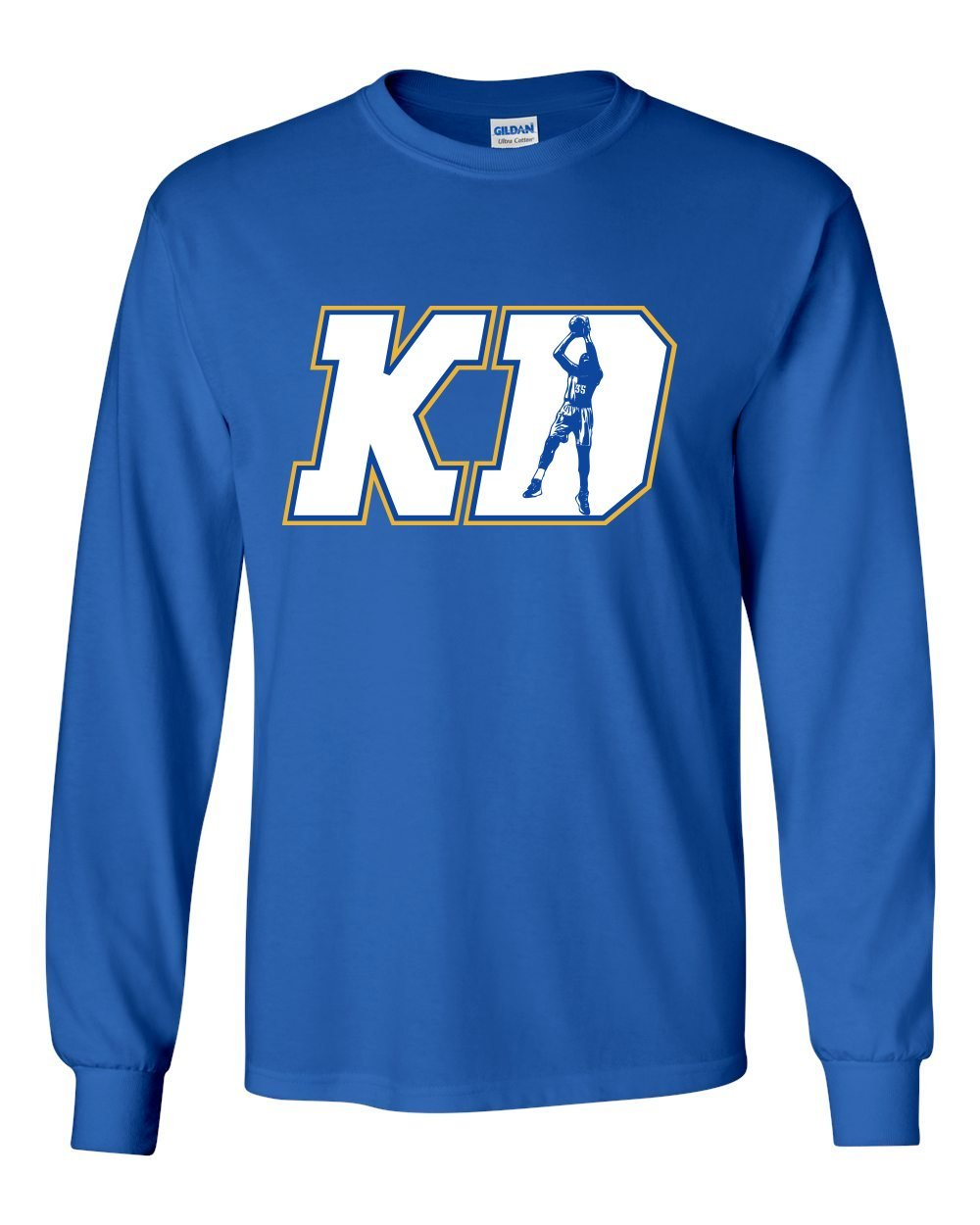 huge discount f1752 0090b Get Quotations · LONG SLEEVE Royal KD DURANT Golden State
