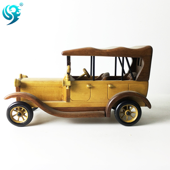 Fabrika Toptan Boya Renk El Yapımı Dekorasyon Ahşap Araba Modeli