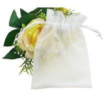 Reusable Organza Fabric Wedding Souvenirs Pouch Small Drawstring Gift Bags Custom Wedding Favour Bags Jewelry Pouches