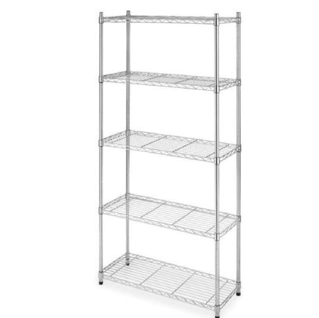 "Best Chrome 5-Shelf Steel Wire Tier Layer Shelving 72"" x 36"" x 14"" Storage Rack"