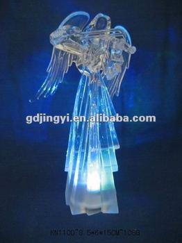 led verlichting kerst ornamenten acryl engel met viool