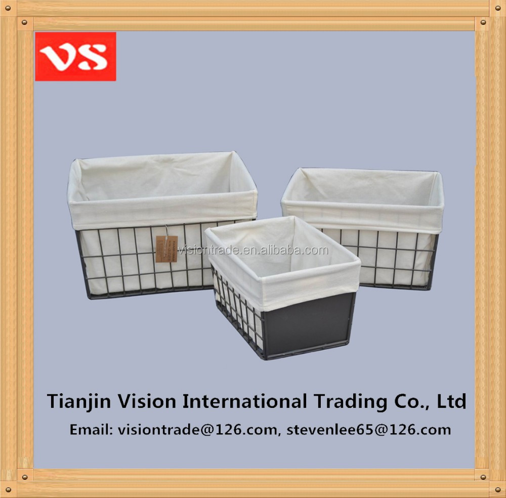 Home decorative woven wire storage boxes home use storage for Cheap book storage