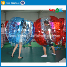 half color soccer bubble/bubble football/knocker balls for sale