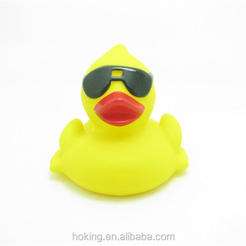 Floating Yellow Rubber Duck With Sunglass - Buy Rubber Duck,Rubber ...