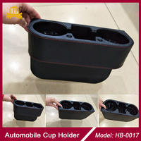 Plastic PVC Leather multi-function Car cup holder drink holder for front seat