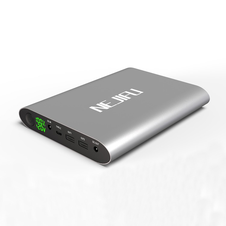 Newest unique design NEJIFU power bank laptop 50000mah with 5V/8.4V/9V/12V/16V/20V