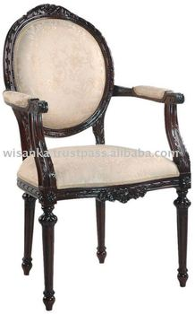 Mahogany French Dining Arm Chair