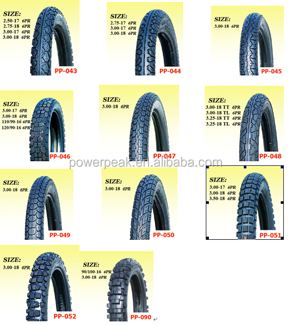 Motorcycle Tire To Philippines 300 17 Tubeless Tyres 90 80