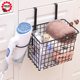 Bathroom Cabinet Door Back Hanging Wire Storage Basket to Hold Bath Towels, Shampoo
