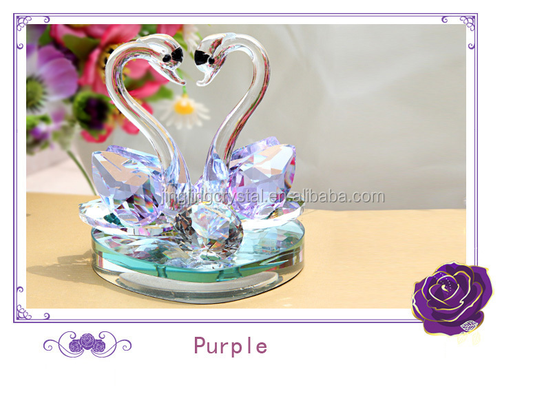 Crystal Figurine Swan Souvenirs Wedding