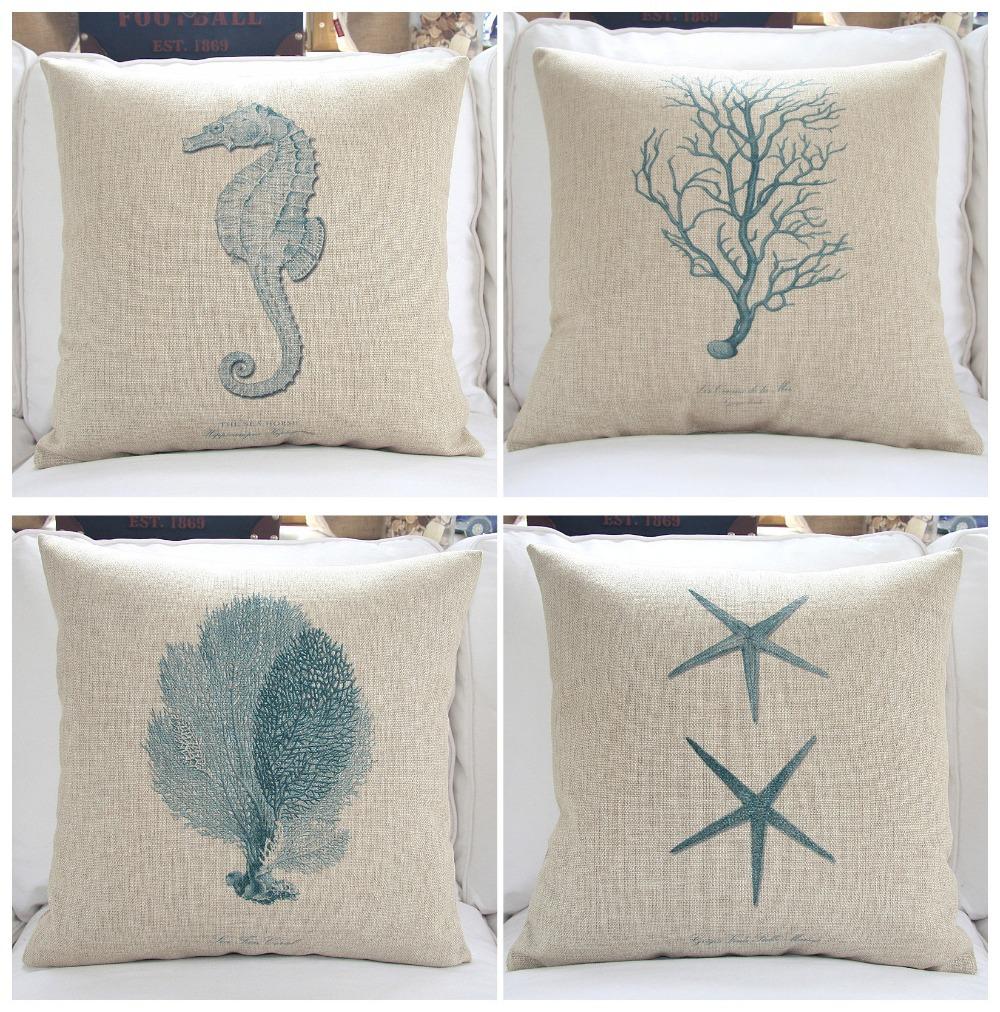 thick cotton linen sofa pillows 18 39 39 sea cushion covers decorative throw pillow cover incushion. Black Bedroom Furniture Sets. Home Design Ideas