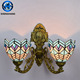 Traditional antique tiffany wall lamps/classical glass wall lamp for home /hotel and banker
