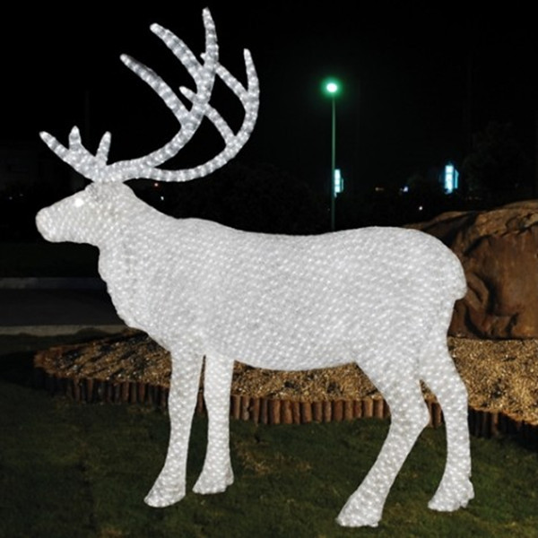Custom outdoor decoration light animal shaped 3d led for Christmas reindeer decorations outdoor