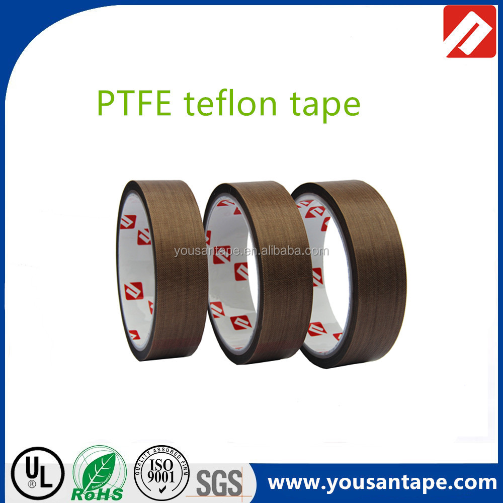 High Temperature Brown Nitto PTFE Coated Glass Fabric Adhesive Tape with Silicone Adhesive