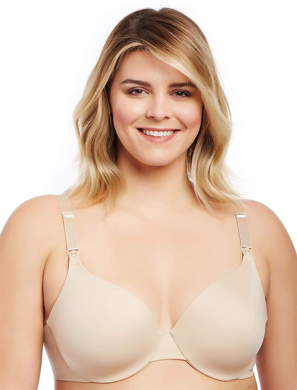 481ac090c Get Quotations · Motherhood Plus Size Full Coverage Back Smoothing Nursing  Bra- Nude