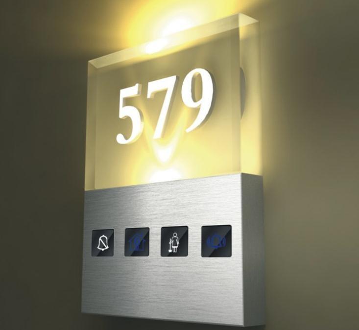 Shibell cristal iluminado signo de n mero de habitaciones for Hotel numero