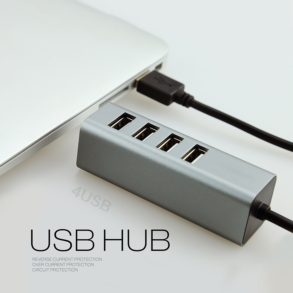 USB3.1 C to 4 Ports USB 3.0 HUB with Gigabit Ethernet Adapter For Apple Macbook