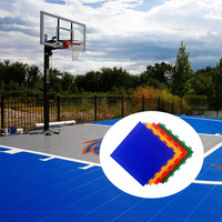Hot sale cheap anti-slip removable outdoor plastic interlocking basketball courts flooring
