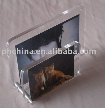 Jpf-297 Hot Selling Products Magent Clear Acrylic Photo Frame ...
