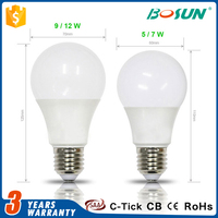 most power warm white a60 e27 SMD5730 3 watt 5 watt led lighting bulb