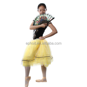 Ephod 2015 black velvet romantic ballet tutu/chinese performance costume EPBL-016