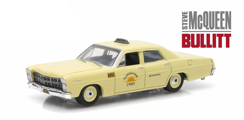 "1967 Ford Custom ""Sunshine Cabs"" Taxi Steve McQueen Bullitt (1968) Hollywood Series 9 1/64 by Greenlight 44690 C"