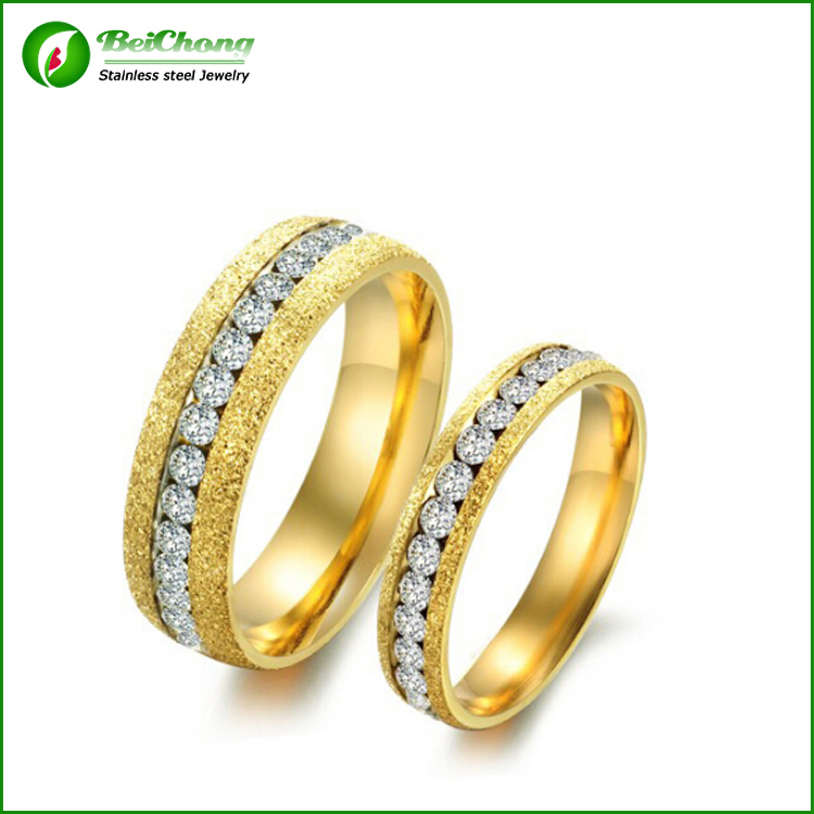 new style personalized scrub matte stainless steel saudi arabia gold wedding ring price j3 0095 - Wedding Ring Price