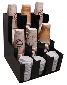 Verticle Coffee Cup Dispenser and Lid Holder.jpg 350x350 Coffee Stirrer Dispenser Verticle Coffee Cup Dispenser And Lid Holder Condiment Stirrer Sugar Cup Caddy Organizer View