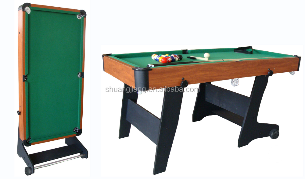 Mini Size Folding Pool Table With Wheels,5ft Pool Table For Kids ...