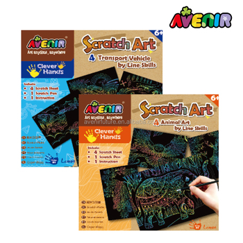 Animal Theme Image Kids Toy Diy Scratch Art Paper - Buy Scratch Art  Paper,Kid Toy,Scratch Card Product on Alibaba com