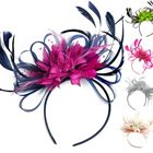 Customised Feather Hair Fascinator on Headband Wedding Royal Ascot Races Bespoke BD703