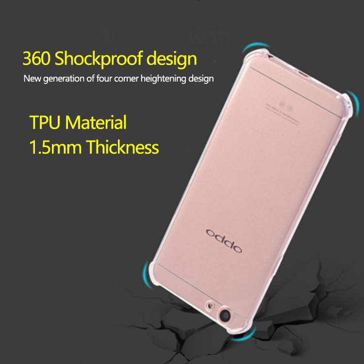 Factory wholesale high quality phone case cover for oppo f1s mobile phone case TPU rubber anti fall