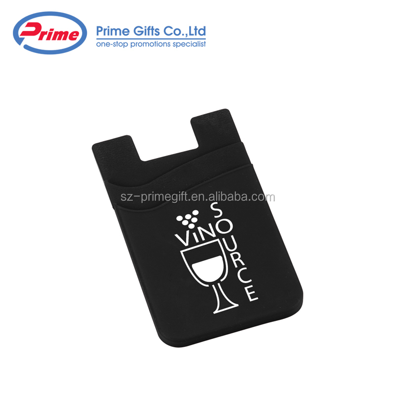 2020 New Promotional Stick On Silicone Mobile Phone Card Holder