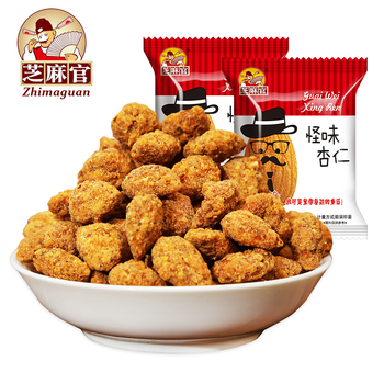 Zhimaguan Brand Spicy Almond Nuts Snack with specification for almond in 300g bag