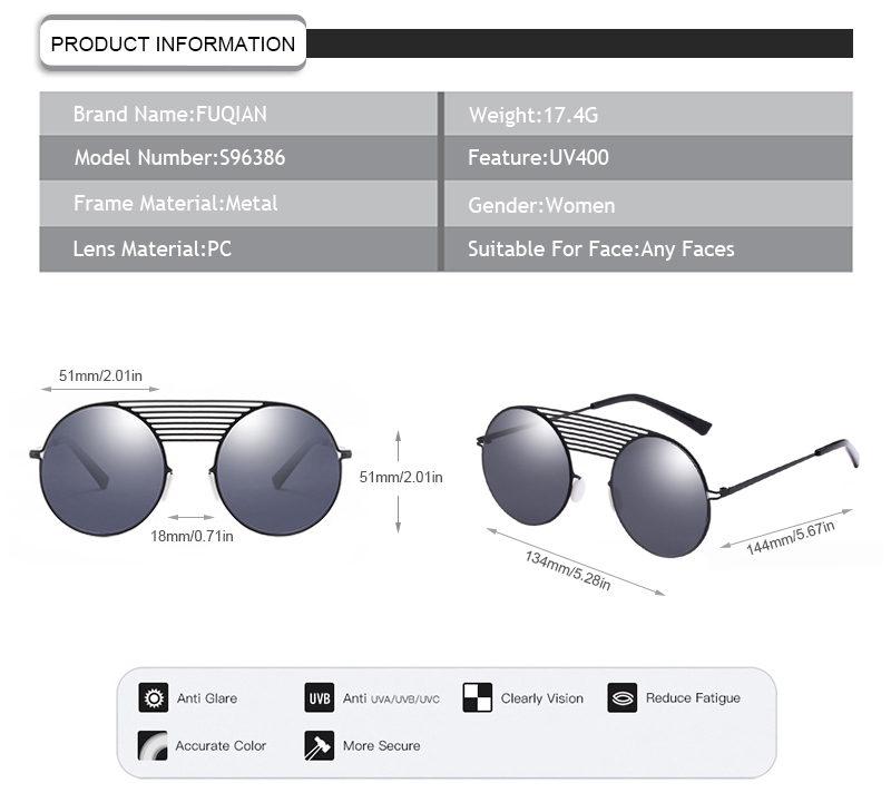Fuqian large frame womens sunglasses buy now for lady-7