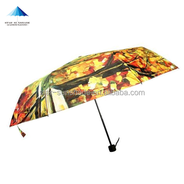 budget manual opening full color printing small pocket fold umbrella