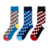 top quality custom pure cotton crew black red grid sock high dress sock