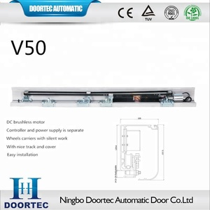 Doortec V50 cheap and good quality commercial automatic sliding door
