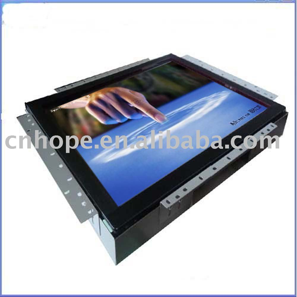 Steel case open frame 19'' lcd touch monitor