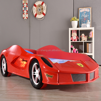fairlery kids 3d red plastic car bed for children furniture