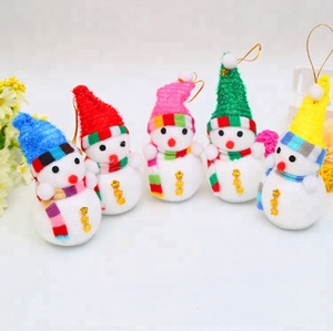 Christmas tree gift hanging decorations foam snow man gift