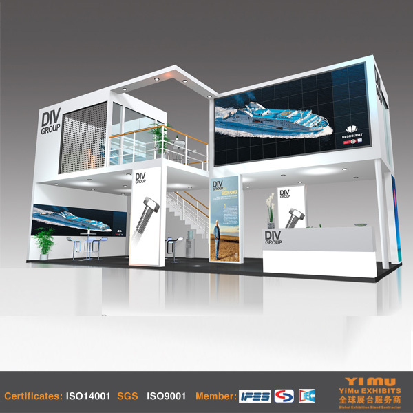 Exhibition Stand Builders China : Double deck booth stand builder buy