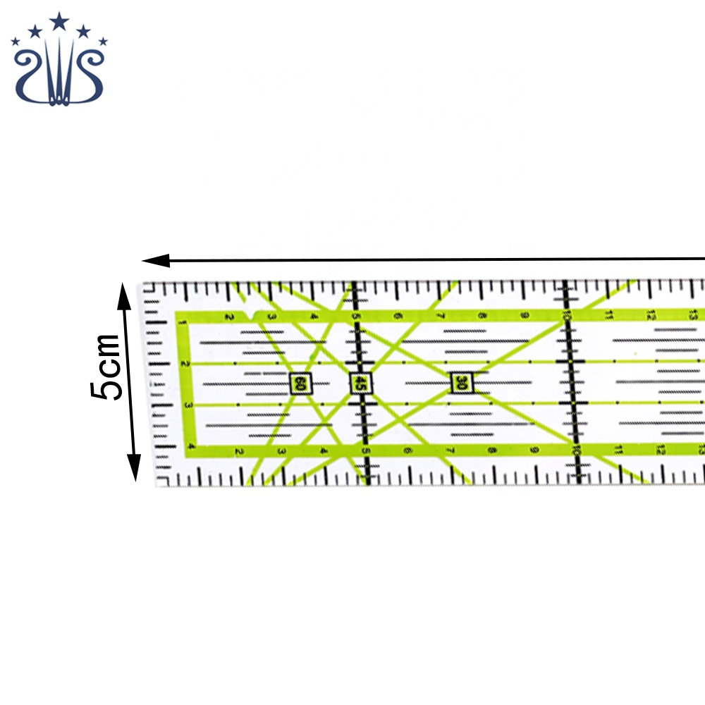 Professional 5*30cm Green Cutting and Rigid Sewing Quilting Acrylic Patchwork Ruler