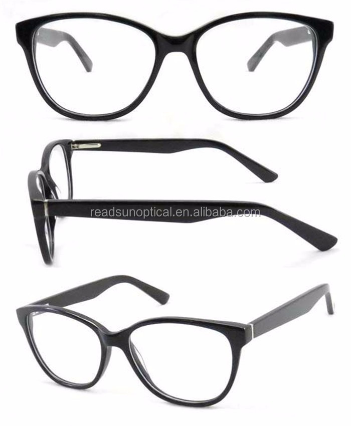 Wholesale fashion brand the latest men and women round acetate optical frames china