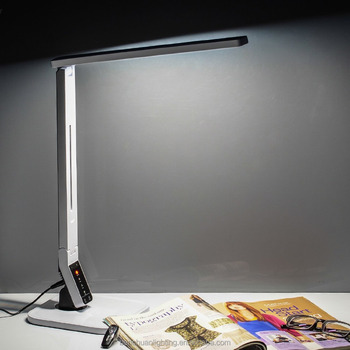 Amazon hot selling adjustable smart touch dimmable LED desk reading lamp with USB port/auto timer/4 color modes/5 steps dimming